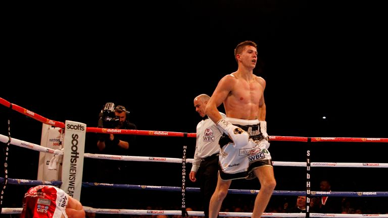 Crolla was ringside to watch Luke Campbell announce himself