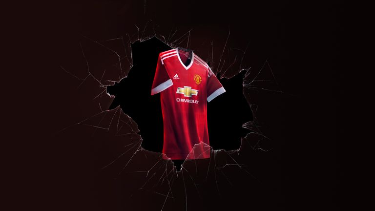 The new Manchester United home kit for this season