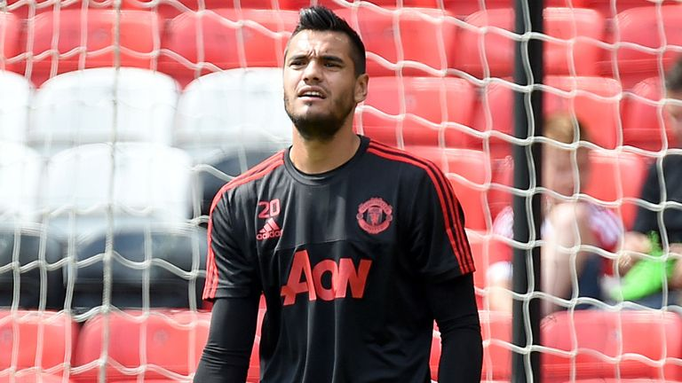 Sergio Romero has played just five times for Manchester United this season