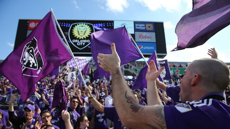 Orlando City supporters: the Citrus Bowl attracts an average attendance of 32,973
