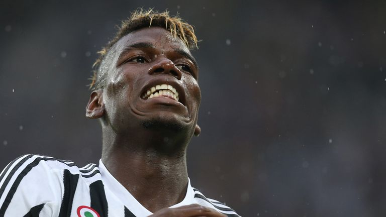 Paul Pogba shows his frustration