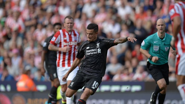 Philippe Coutinho's long-range strike won the game for Liverpool late on