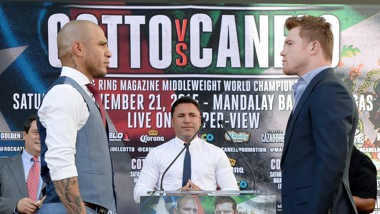 Glenn expects Golovkin to go for the winner of Miguel Cotto (left) and Saul Alvarez