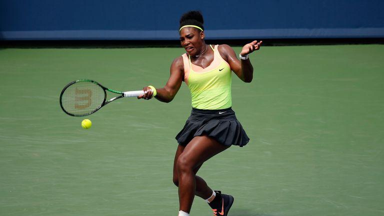Serena Williams defends her title