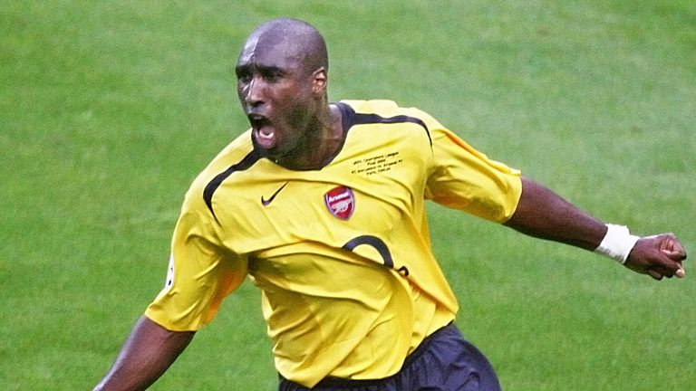 Sol Campbell scored in the Champions League final for Arsenal