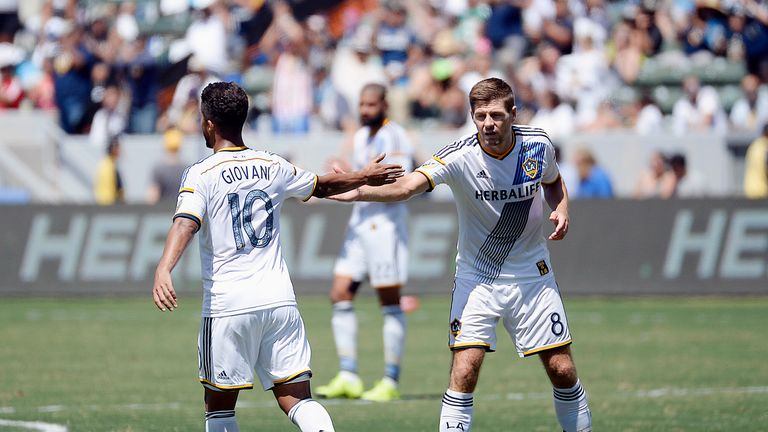 Giovani Dos Santos (left) and Steven Gerrard (right) are both among the highest earners in the MLS