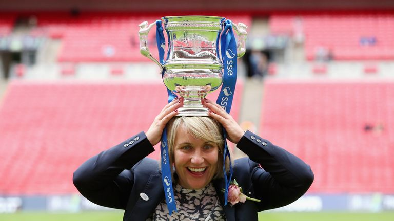 Chelsea boss Emma Hayes after winning FA Women's Cup at Wembley