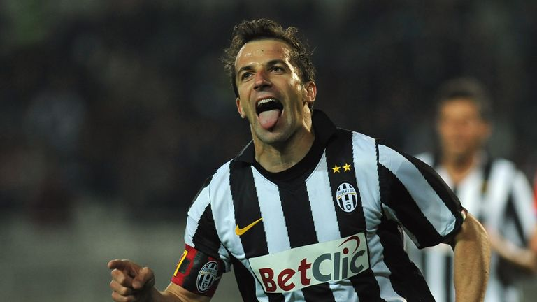 Del Piero says Conte is the best coach Italy currently has to offer
