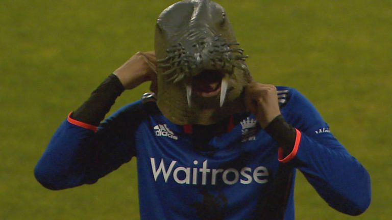 Alex Hales dons a walrus mask... as you do!