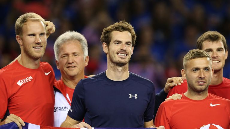 Andy Murray (middle) will need to play a key role for Great Britain