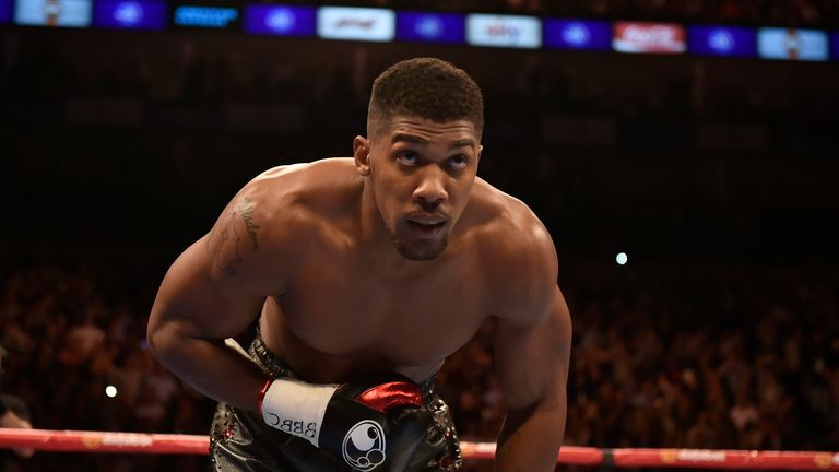 Anthony Joshua is looking upwards... at a world-title fight next year