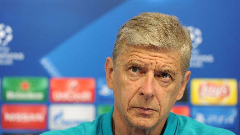 Arsene Wenger says he takes responsibility for his team selection in Europe in midweek