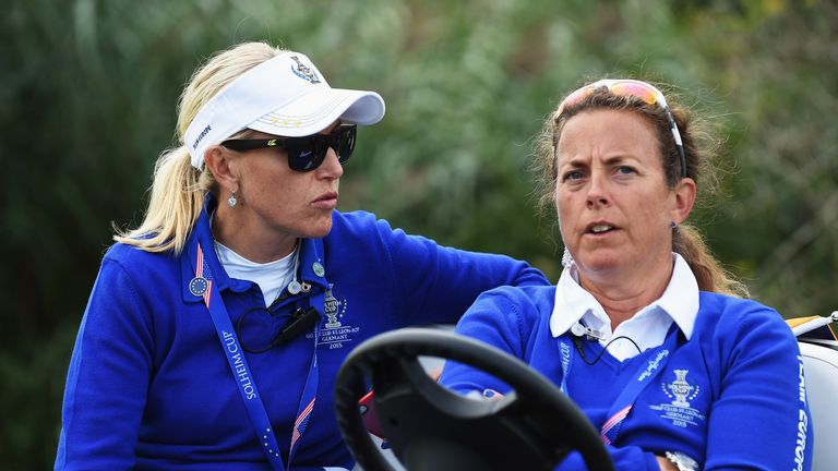 Carin Koch and Fanny Sunesson look glum as Europe near defeat