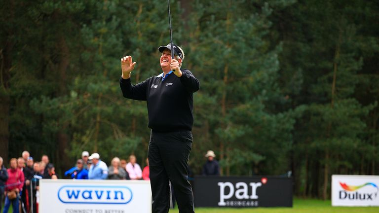 Colin Montgomerie recorded his seventh win in just his 15th start at Woburn