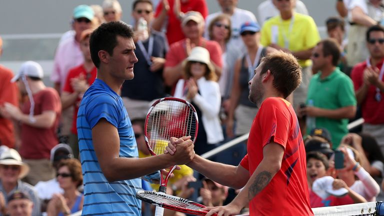 Evans beat Tomic at the US Open two years ago