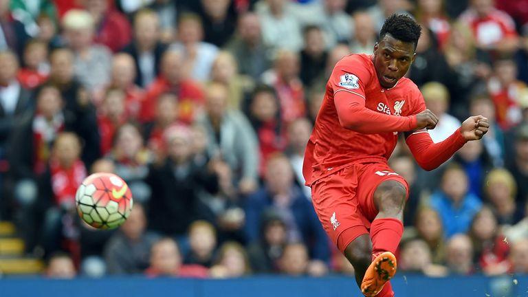 Daniel Sturridge shoots towards goal on his return