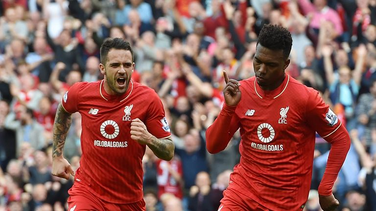 Daniel Sturridge scored twice on his comeback from injury against Aston Villa