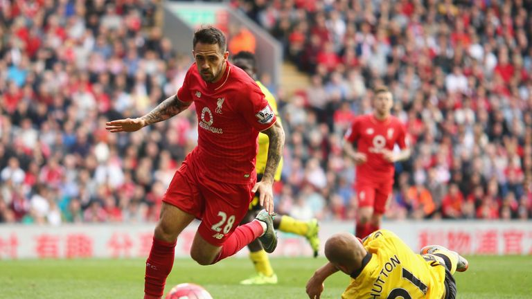 Danny Ings in action against Aston Villa