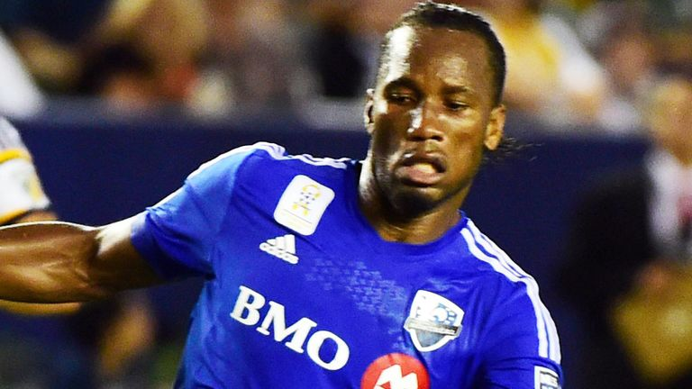 Didier Drogba, now playing for Montreal in MLS, has a big influence on Lukaku