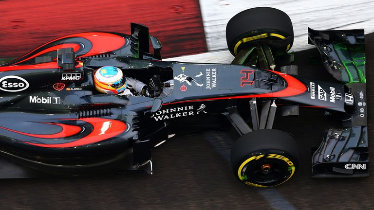 Alonso was running ninth when he dropped out in Singapore with gearbox trouble