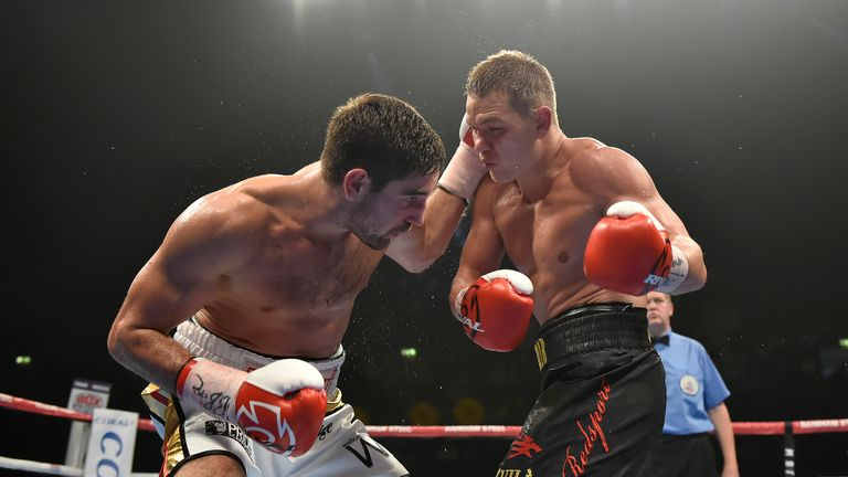 Buglioni threw several combinations, but it was all vain as Chudinov came out on top