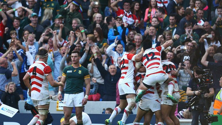 Japan recorded an historic victory over the Springboks during the 2015 World Cup