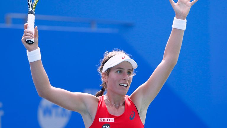 Johana Konta has continued her fine form at the Wuhan Open