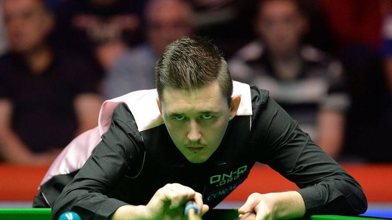 Kyren Wilson at the baize