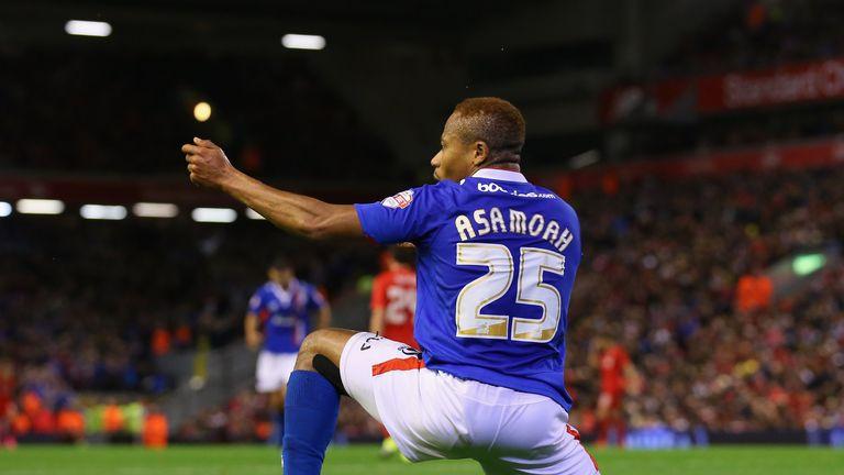 Derek Asamoah equalised for Carlisle in front of The Kop
