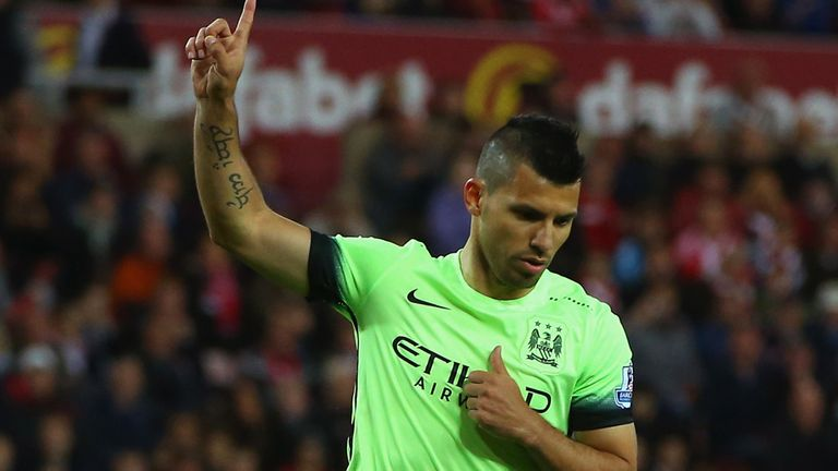 Sergio Aguero is back to lead the Manchester City attack against Liverpool