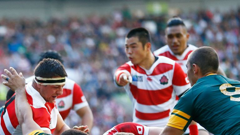Michael Leitch scored Japan's opening try during their win over South Africa
