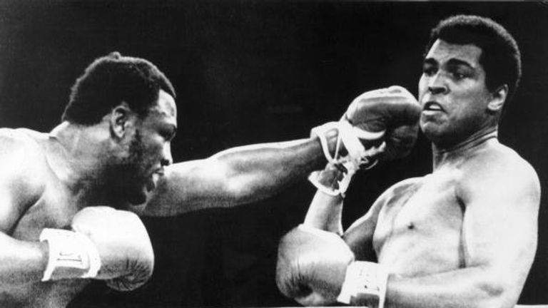 Late and greats, Frazier and Ali, met in the famous Thrilla in Manila