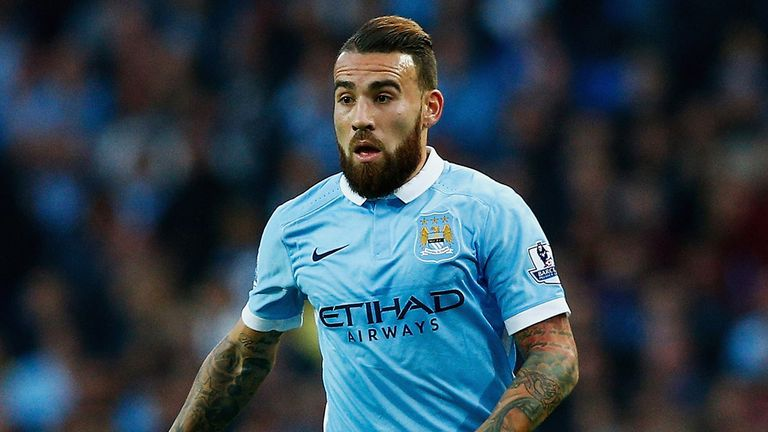 Nicolas Otamendi was also forced off against Dynamo Kiev