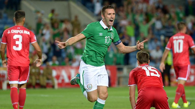 Robbie Keane scored twice against Gibraltar to take his tally of international goals to 67