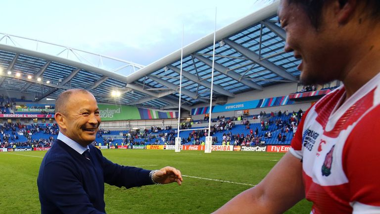 Jones coached Japan to a famous victory over South Africa in Brighton at the 2015 World Cup