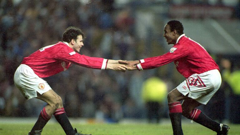 Giggs scored United's first Champions League group stage goal in 1994