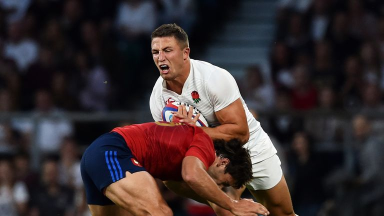 Sam Burgess (right) has been defended by Jason Robinson
