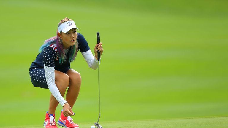 Michelle Wie won her singles match 6&4 against Caroline Hedwall