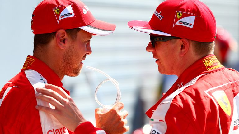 Sebastian Vettel was narrowly out-qualified by Kimi Raikkonen at Monza