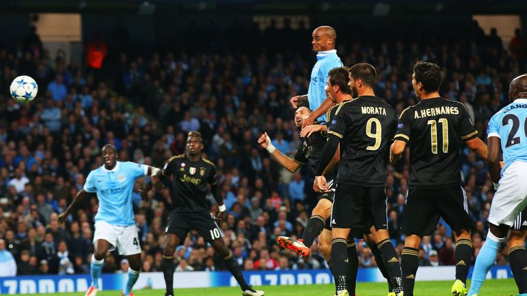 Vincent Kompany was involved in Manchester City's goal