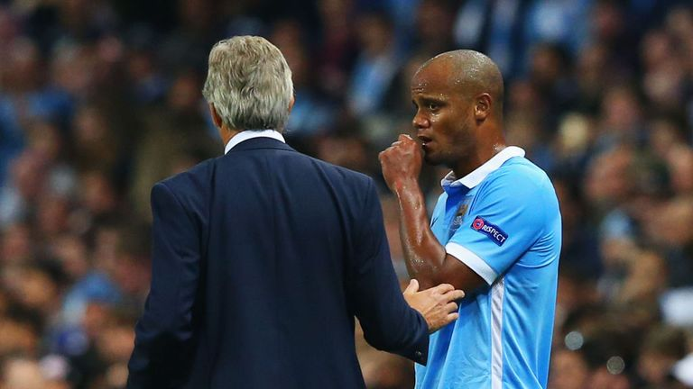 Vincent Kompany suffered a calf injury during Manchester City's defeat to Juventus a fortnight ago