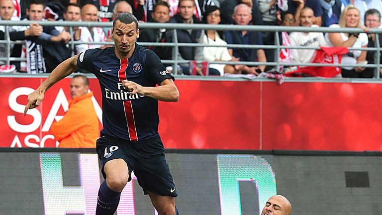 Zlatan Ibrahimovic in action for PSG