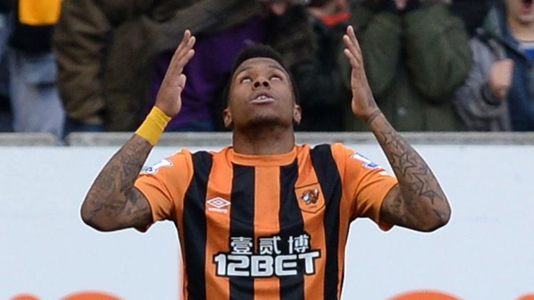 Abel Hernandez fired home a hat-trick for Hull City