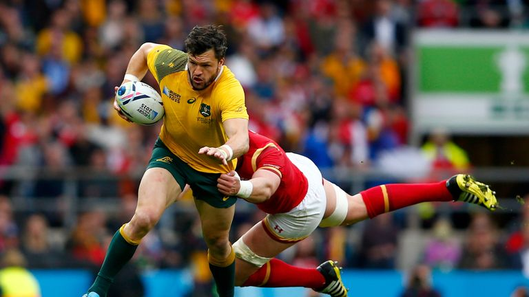 Guy Grinham was able to watch Adam Ashley-Cooper against Wales