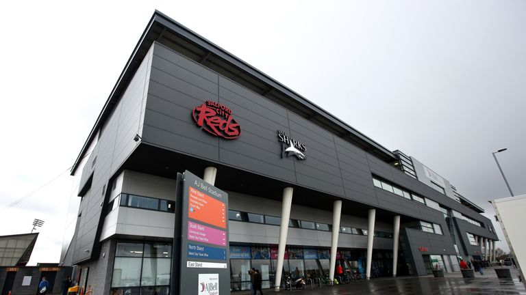 AJ Bell Stadium, home of the Salford City Reds