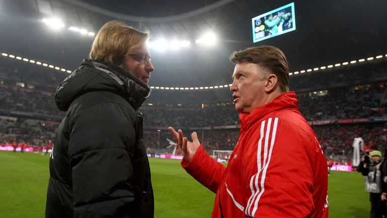 Van Gaal had his contract cancelled shortly after losing to Klopp's Dortmund