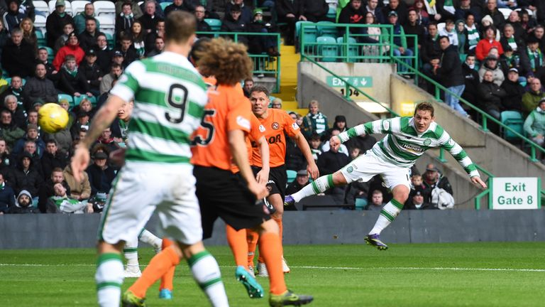 Ronny Deila kept Commons in his team for Sunday's game against Dundee United and the player scored twice