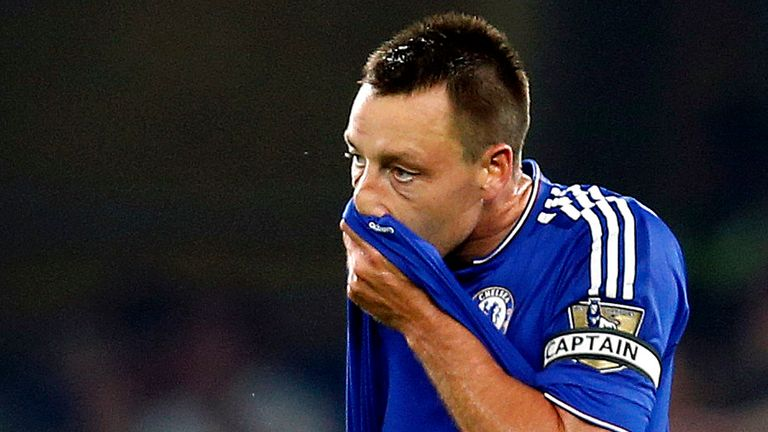 John Terry stands dejected after Chelsea concede against Southampton