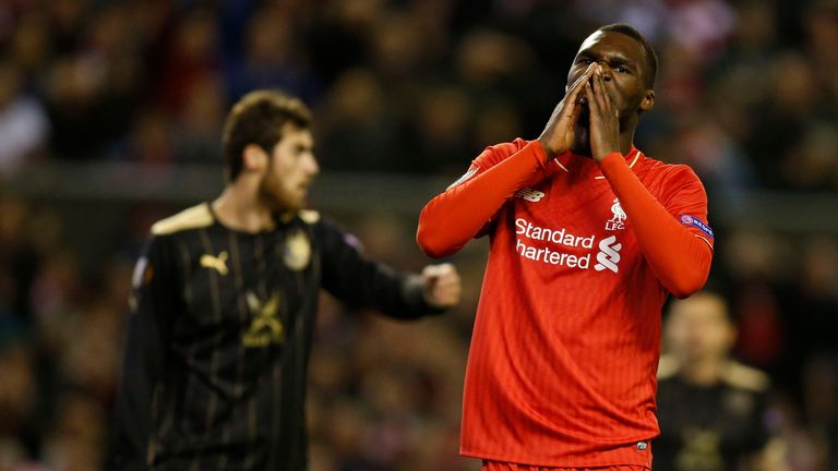 Liverpool's Christian Benteke hit the post on 79 minutes after he came on as a substitute, replacing Coutinho