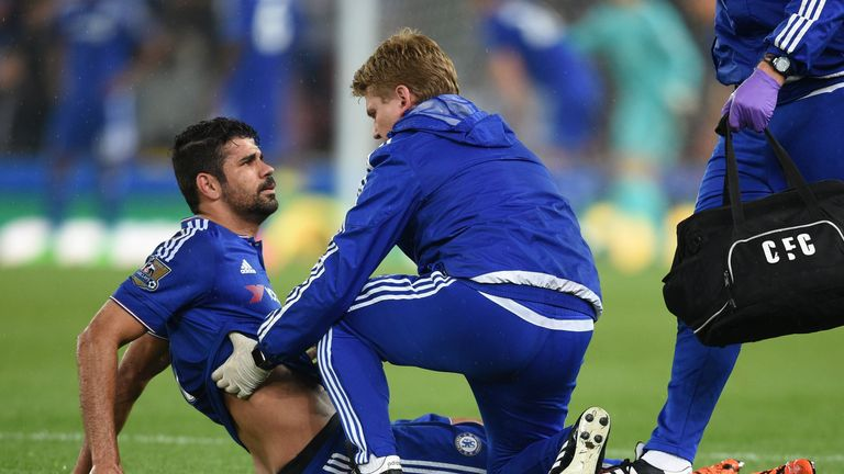 Diego Costa was injured at Stoke and could face a period of time on the sidelines